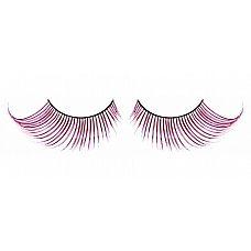 Светло-розовые ресницы-перья  Дерзкие, но нарядные ресницы из мягких высококачественных перьев ручной обработки, выполненные в лиловом и розовом цветах, подкрученные по краям.