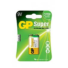 Батарейка типа Крона 9V в пленке по 1 шт.  Крона GP Super является качественным и энергоэффективным средством питания устройств.
