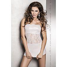 Платье без бретелек с кружевом на талии Sati  Нежное платье с широкой кружевной полосой на талии.