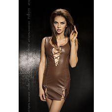 Облегающее платье с глубоким декольте со шнуровкой Carissa  Облегающее платье украшено вырезами в области декольте и по низу.