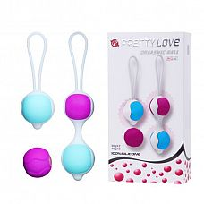 Разноцветные вагинальные шарики Orgasmic balls silicone  Набор силиконовых вагинальных шариков, приятных на ощупь.