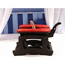 Секс-машина Пегас черного цвета с красными подушками SM Pegas/black-red  Секс-машина представляет собой комфортное мягкое сиденье, обитое красной натуральной кожей.