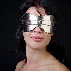 Маска на глаза из искусственной кожи цвета бронзы  Изготовлена их искусственной кожи. Размер универсальный. Цвет бронза