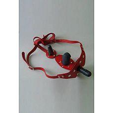 Красные кожаные трусики со штырьком и двумя съёмными стимуляторами  Трусики изготовлены из натуральной кожи.