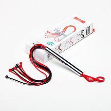 Чёрно-красная плеть из латекса - 50 см.  Плеть изготовлена из натурального гипоаллергенного латекса, имеет 8-9 хвостов.