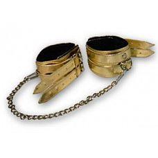 Золотистые оковы с мехом  Оковы.