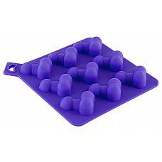 Формочка для льда фиолетового цвета  Формочка для льда, фиолетовая. В виде мужского члена.