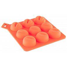 Формочка для льда оранжевого цвета  Формочка для льда, оранжевая.