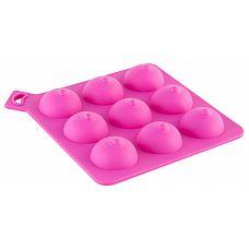 Формочка для льда розового цвета  Формочка для льда, розовая. В виде женской груди.