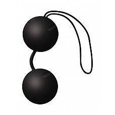 Чёрные вагинальные шарики Joyballs Black  Два шарика, внутри каждого - шарик меньшего диаметра.