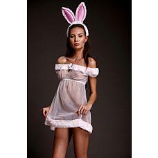 Игровой костюм  Зайка-интриганка    Нежный костюм зайчика в розовых тонах.