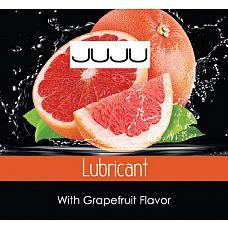 Пробник съедобного лубриканта JUJU с ароматом грейпфрута - 3 мл.  Сексуальная прелюдия принесёт вашей паре все 33 удовольствия, если вы решите использовать эту смазку на водной основе.