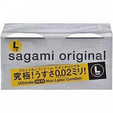 Презервативы Sagami Original L-size увеличенного Размера - 12 шт.  Презервативы Sagami Original L-size увеличенного Размера - большая длина и диаметр.