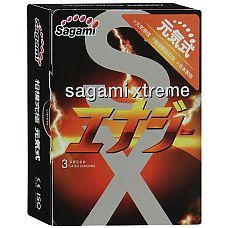 Презервативы Sagami Xtreme ENERGY с ароматом энергетика - 3 шт.  Sagami Xtreme Energy № это классические презервативы, выполненные из натурального латекса.