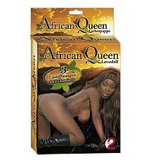 Кукла для любви  African Queen   Обворожительная темнокожая красавица с тремя отверстиями для любви всегда согласна на любовные утехи.