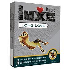 Презервативы LUXE Long Love с пролонгирующим эффектом - 3 шт.  Презервативы Long love от Luxe с пролонгирующим эффектом не позволят потерять контроль над возбуждением.