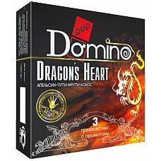Ароматизированные презервативы Domino Dragon№s Heart  - 3 шт.  «В комнате так и пахло сексом№»  Как это? Вы узнаете с ароматизированными гладкими презервативами  Domino Dragon№s Heart.