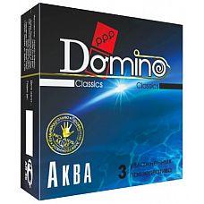 Презервативы Domino  Аква  - 3 шт.  С гладкими презервативами Domino  Аква  вам будут доступны все 33 плотских удовольствия.