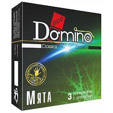 Ароматизированные презервативы Domino  Мята  - 3 шт.  Бодрящий аромат мяты № это именно то, что подстегнёт ваше сексуальное желание.