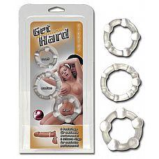 Набор из трех эрекционных колец различного диаметра  Набор эрекционных колец для мужчин.