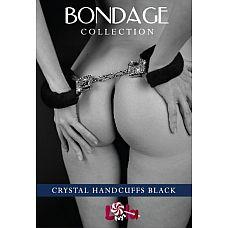 Наручники с кристаллами BONDAGE черные 1011-01lola  Каждая девушка в сексе помимо физического наслаждения желает получать еще и эстетическое, которое подарят роскошные и гламурные секс-игрушки.