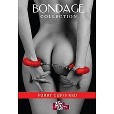 Наручники с мехом BONDAGE красные 1010-02lola  Сексапильные наручники с мехом 1010-02lola не оставят Вашего партнера равнодушным.