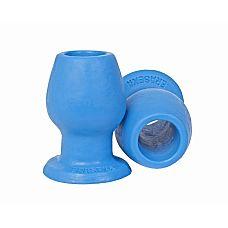 Анальный тоннель с большим отверстием  голубой zoo57  Анальный тоннель представляет собой втулку конусообразной формы с гладкой поверхностью и отверстием в середине.