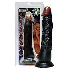 Фаллоимитатор African Lover - 23 см.  Реалистичный фаллоимитатор с пылающей выраженной головкой и натуралистичной сетью вен.