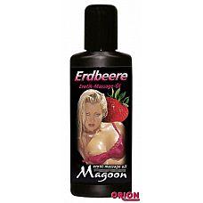 Массажное масло Magoon Strawberry - 50 мл.   Эротическое массажное масло с ароматом клубники.