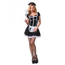 """Костюм """"Роковая служанка"""" черный 02169L-XL  На любом маскараде такой костюм служанки привлечет внимание к его владелице."""