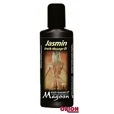 Массажное масло Magoon Jasmin - 50 мл.   Возбуждающее массажное масло с ароматом жасмина и маслом жожоба для ухода за кожей.