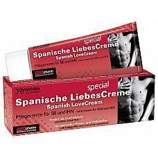 Возбуждающий крем для двоих SPANISCHE LIEBESCREME SPEZIAL - 40 мл.  Возбуждающий крем для мужчин и женщин.