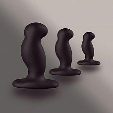 Набор из 3 массажеров простаты чёрного цвета NEXUS ANAL STARTER KIT  Набор стимуляторов Nexus Kit состоит из трех массажеров разного Размера и подходит как для стимуляции точки G, так и для массажа простаты.