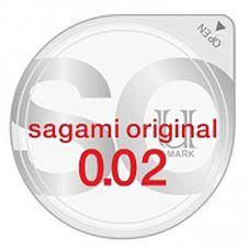 Ультратонкий презерватив Sagami Original - 1 шт.  Sagami original - самые тонкие и надежные презервативы в мире! Толщина стенки  в три раза тоньше, чем у стандартных латексных презервативов.