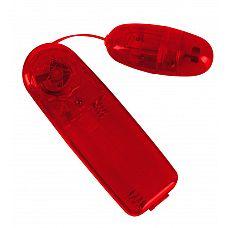 Красное виброяичко с пультом Bullet in Red  Компактная вибропуля Bullet in Red - удовольствие, которое можно носить с собой.