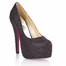 Туфли на высоком каблуке Black Diamond  Дресс-код на мероприятие черный? Но как выделиться среди всей черной массы? Или ты просто поклонница классической обуви, но иногда хочется чего-то особенного? Идеальный выбор - туфли Black Diamond! Красивые туфли на устойчивой шпильке украшены вручную черными кристаллами.