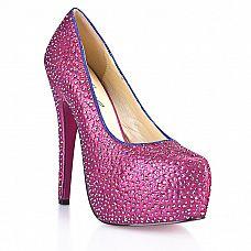 Туфли в кристаллах на шпильке Sexy Pink  Что девушки любят больше всего? Правильно - туфли,туфли,туфли.