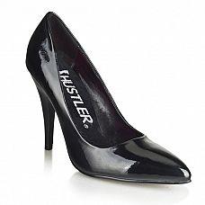 Черные туфли на шпильке Classic  Черные классические туфли из искусственной кожи на шпильке.