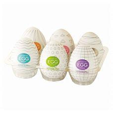 Набор мастурбаторов-яиц Tenga с различными рельефом  Набор Tenga Egg из 6 стимуляторов.
