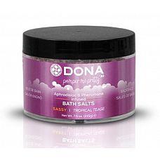 Соль для ванны DONA Sassy Tropical Tease - 215 гр.  Соль для ванны DONA Bath Salt  Tropical Tease с ароматом  Страсть .