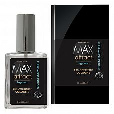 Свежий мужской аромат с феромонами MAX Attract Hypnotic - 30 мл.  Свежий и яркий мужской аромат с нотами виргинского можжевельника, произрастающего только в Северной Америке, дополняют его легкие оттенки древесных нот.