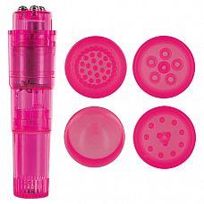 Розовая виброракета с 4 насадками MULTI STIMULATOR CANDY PIE PINK PLEASY  Розовая виброракета с 4 насадками MULTI STIMULATOR CANDY PIE PINK PLEASY.