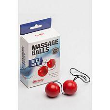 Шарики массажные (пластик ) красные 8009-2  Шарики массажные - универсальный тренажер для максимально эффективной тренировки интимных мышц.