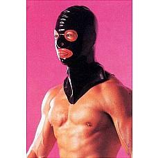 Шлем Hangman`S  Шлем Hangman'S черного цвета с прорезями для глаз, носа и рта, выделенных красным цветом.