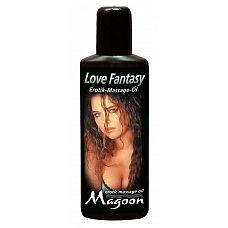 Массажное масло Love Fantasy - 100 мл.   Масло премиум класса с романтическим запахом, содержит масло жожоба, которое делает кожу мягкой и шелковистой.