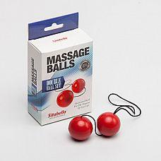 Красные массажные вагинальные шарики  Массажные шарики - универсальный тренажер для максимально эффективной тренировки интимных мышц.