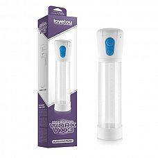Автоматическая вакуумная помпа белого цвета Maximizer worx VX3  Автоматическая вакуумная помпа для мужчин.