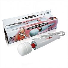 Белый вибростимулятор Magic10  Водонепроницаемый вибростимулятор позволит Вам предаться наслаждению прямо в ванной.