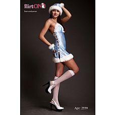 Костюм Снегурочки  Костюм Снегурочки состоит из платья со шнуровкой сбоку, забавного колпачка и митенок.