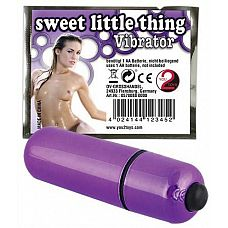 Фиолетовая вибропуля Sweet Little Thing - 7 см.  Фиолетовая вибропуля Sweet Little Thing.